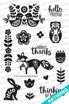 Cottage Garden Stamp Set ©2017 Newton's Nook Designs