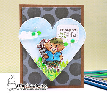 Winston's Tee Time Stamp Set ©2017 Newton's Nook Designs