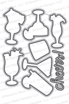 Cocktail Mixer Die Set ©2017 Newton's Nook Designs