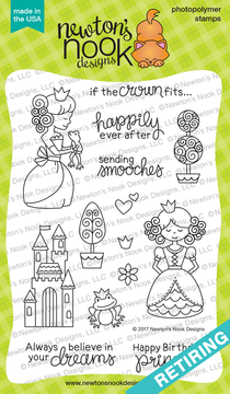 Once Upon a Princess Stamp Set ©2017 Newton's Nook Designs