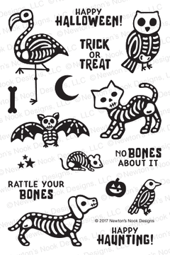 Spooky Skeletons Stamp Set ©2017 Newton's Nook Designs