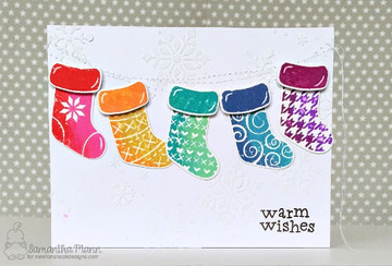 Stylish Stockings Stamp Set ©2017 Newton's Nook Designs