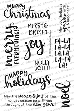 Sentiments of the Season Stamp Set ©2017 Newton's Nook Designs