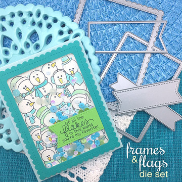 Frames & Flags Die Set ©2017 Newton's Nook Designs
