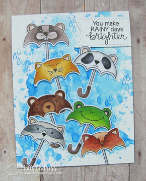 Umbrella Pals Stamp Set ©2018 Newton's Nook Designs