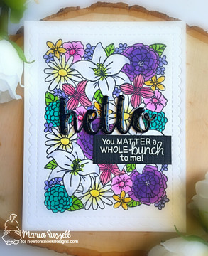 Blooming Botanicals Stamp Set ©2018 Newton's Nook Designs