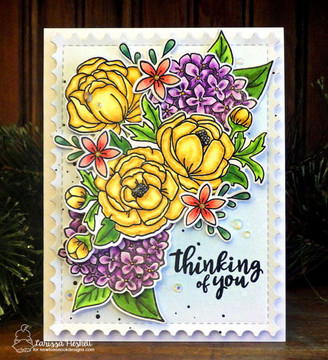 Peony Blooms Stamp Set ©2018 Newton's Nook Designs