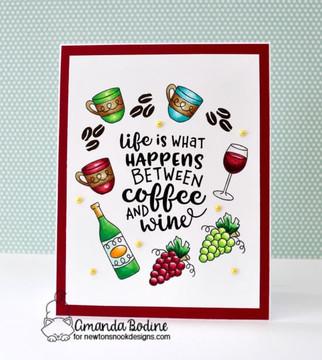 Coffee & Wine Stamp Set ©2018 Newton's Nook Designs