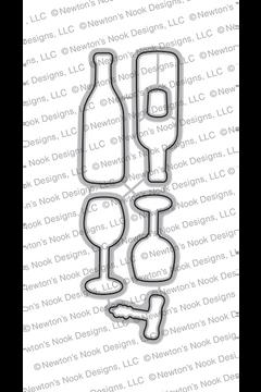 Wine A Little Die Set ©2018 Newton's Nook Designs