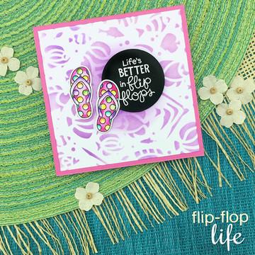 Flip-Flop Life Stamp Set ©2018 Newton's Nook Designs