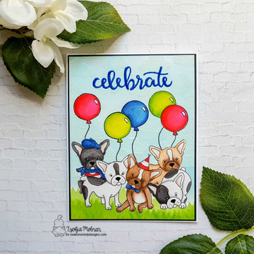 Fabulous Frenchies Stamp Set ©2018 Newton's Nook Designs