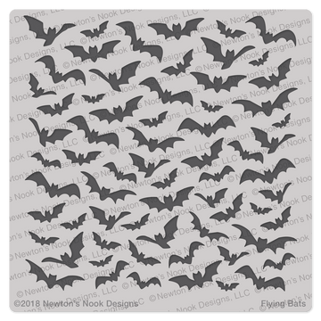 Flying Bats Stencil ©2018 Newton's Nook Designs