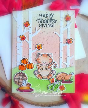 Newton's Thanksgiving Stamp Set ©2018 Newton's Nook Designs