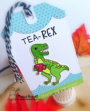 Tea Rex Stamp Set ©2018 Newton's Nook Designs
