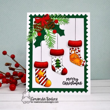 Holiday Stockings Stamp Set ©2018 Newton's Nook Designs