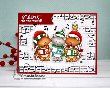 Caroling Newton Stamp Set ©2018 Newton's Nook Designs