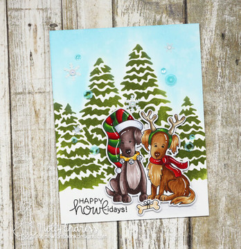 Happy Howl-idays Stamp Set ©2018 Newton's Nook Designs