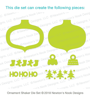 Ornament Shaker Die Set ©2018 Newton's Nook Designs