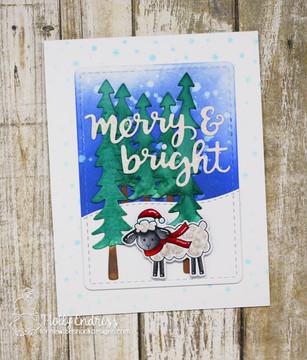 Holiday Greetings Die Set ©2018 Newton's Nook Designs