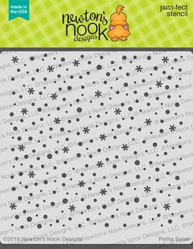 Petite Snow Stencil ©2018 Newton's Nook Designs