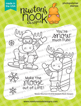 Moose Mountain Stamp Set ©2018 Newton's Nook Designs