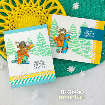 Moose Mountain Stamp Set ©2018 Newton's Nook Designs