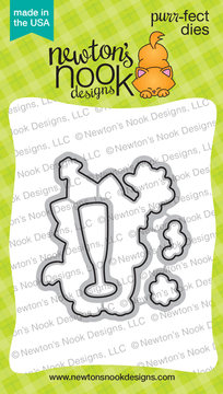 Newton's New Year Die Set ©2018 Newton's Nook Designs