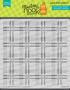 Plaid Stencil Set ©2018 Newton's Nook Designs