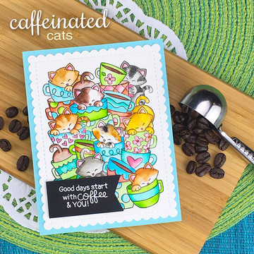 Caffeinated Cats Stamp Set ©2019 Newton's Nook Designs