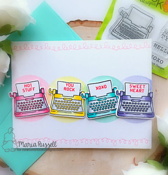 My Type Stamp Set ©2019 Newton's Nook Designs