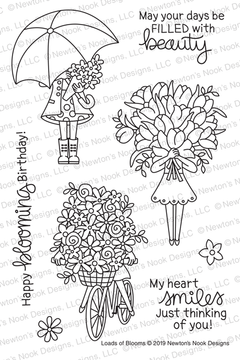 Loads of Blooms Stamp Set ©2019 Newton's Nook Designs