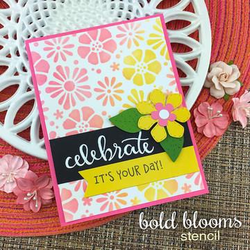 Bold Blooms Stencil ©2019 Newton's Nook Designs