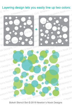 Bokeh Stencil Set ©2019 Newton's Nook Designs