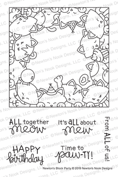 Newton's Block Party Stamp Set ©2019 Newton's Nook Designs