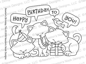 Newton's Birthday Trio Stamp Set ©2019 Newton's Nook Designs