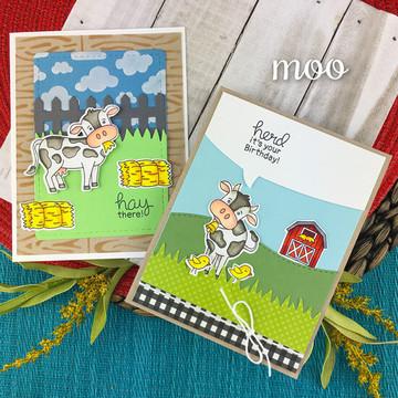 Moo Stamp Set ©2019 Newton's Nook Designs