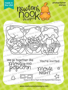 Newton's Movie Night Stamp Set ©2019 Newton's Nook Designs
