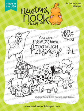 Walking Woofs Stamp Set ©2019 Newton's Nook Designs