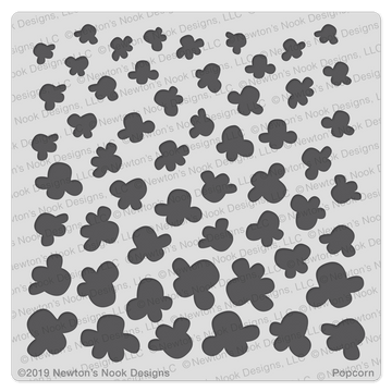 Popcorn Stencil ©2019 Newton's Nook Designs