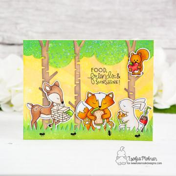 Woodland Picnic Stamp Set ©2019 Newton's Nook Designs