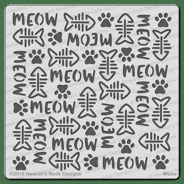 Meow Stencil ©2019 Newton's Nook Designs