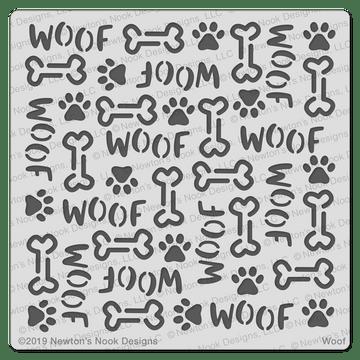 Woof Stencil ©2019 Newton's Nook Designs