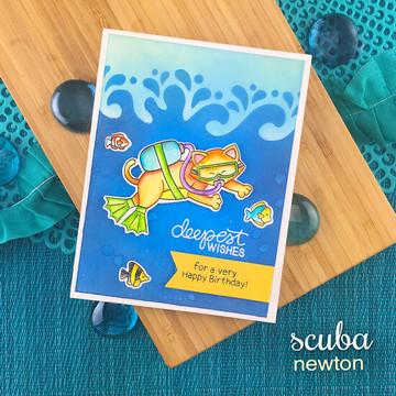 Scuba Newton Stamp Set ©2019 Newton's Nook Designs