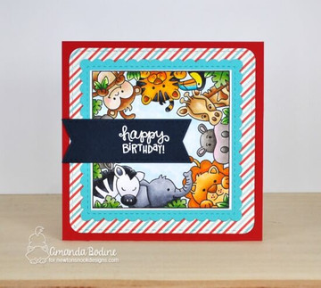 Zoo Party Stamp Set ©2019 Newton's Nook Designs