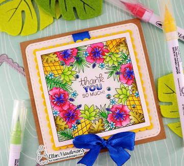 Tropical Fringe Stamp Set ©2019 Newton's Nook Designs