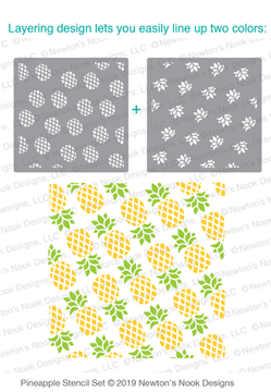 Pineapple Stencil Set ©2019 Newton's Nook Designs