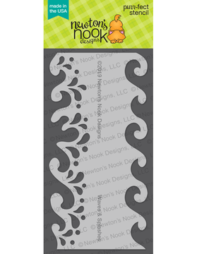 Waves & Splashes Stencil ©2019 Newton's Nook Designs