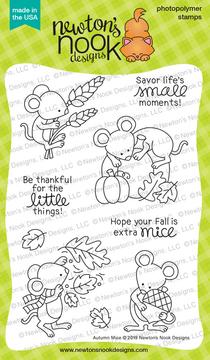 Autumn Mice Stamp Set ©2019 Newton's Nook Designs