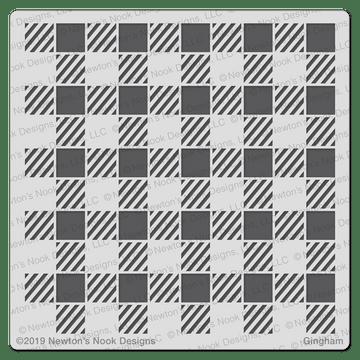 Gingham Stencil  ©2019 Newton's Nook Designs