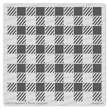 Gingham Stencil  ©2019 Newton's Nook Designs